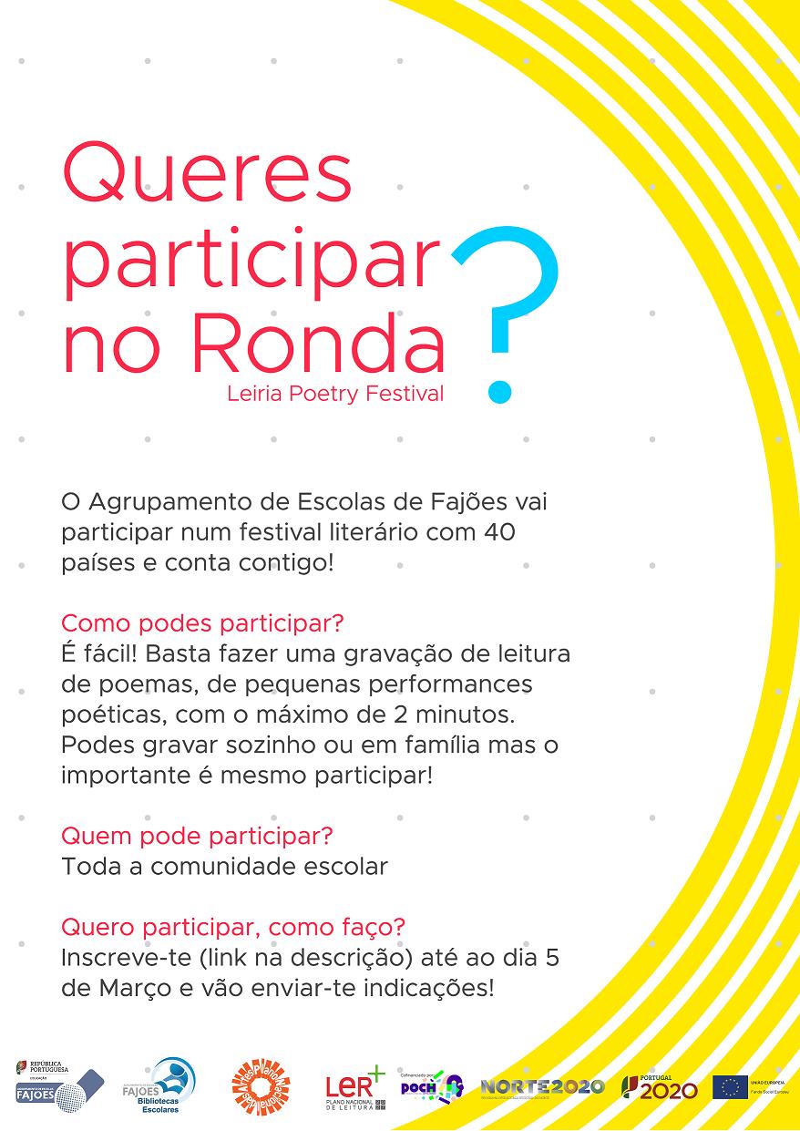 Parceria RONDA – Leiria Poetry Festival