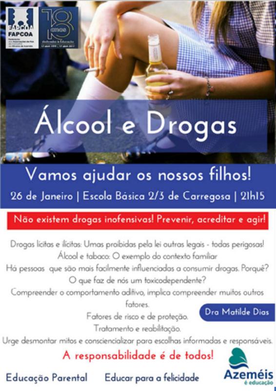 Educação Parental - Alcool e Drogas - EB 2,3 Carregosa - 26 janeiro